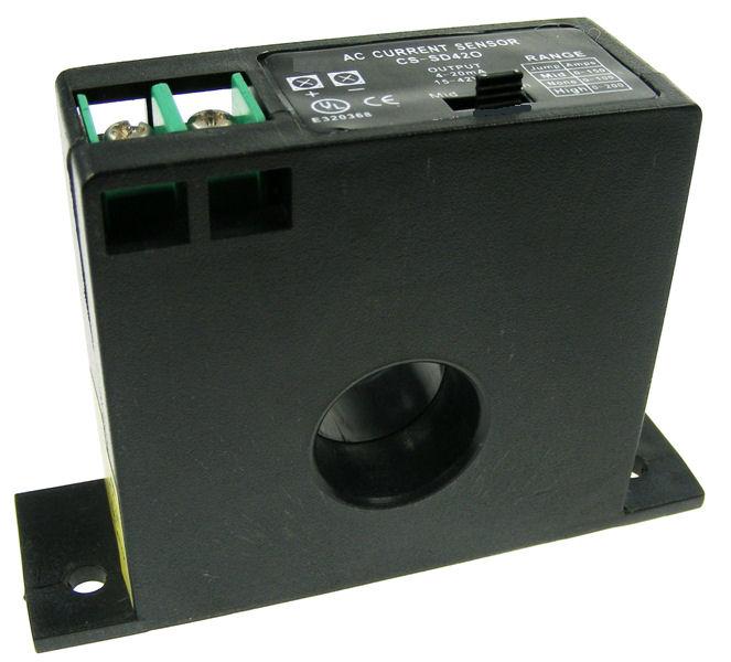 Solid Core Current Sensor 4-20mA output - Range 0...10/20/50A