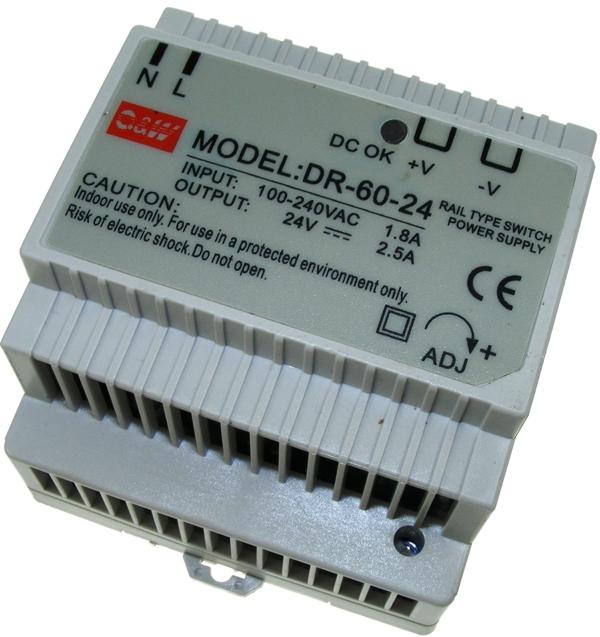 Universal Input 24Vdc Power Supply 60W 2.5A
