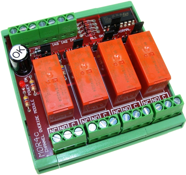Four Channel Override Relay Module