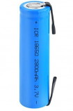 Rechargeable Battery 2800mAh ICR 3.7V Li-ion With Soldering Tabs